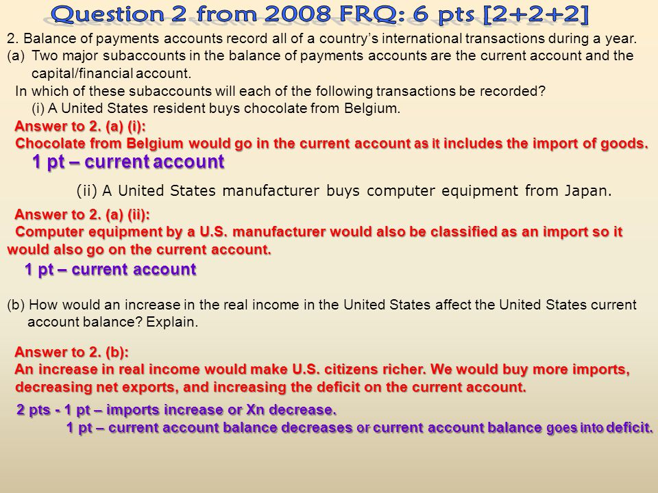 Question 2 from 2008 FRQ: 6 pts [2+2+2]